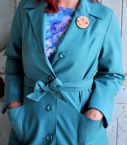 Teal Coat Closeup
