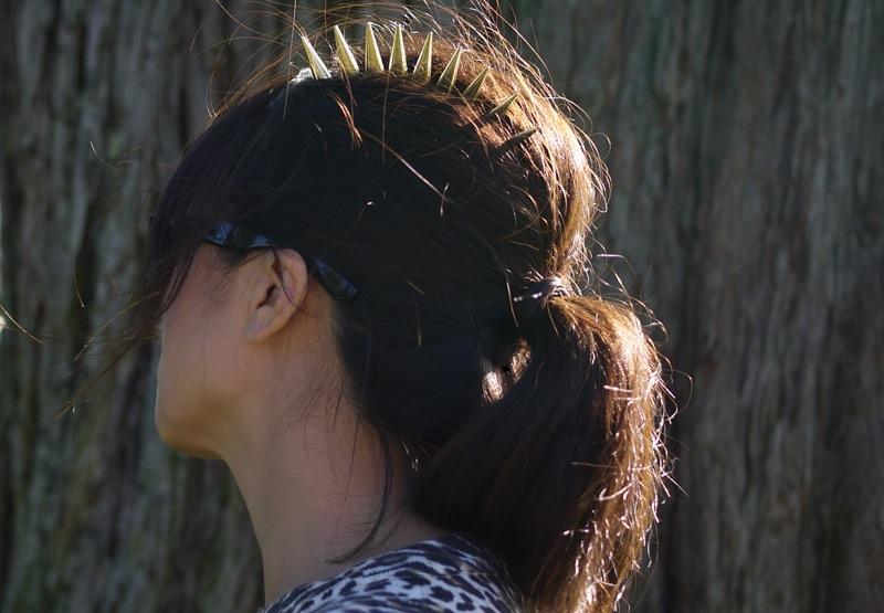 DIY Spike Comb tutorial 2