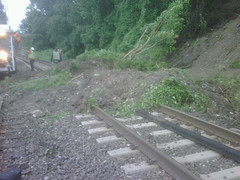 Rail inspectors discover mudslide at Scarborough