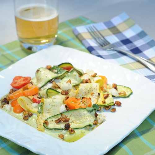 Shaved Summer Squash Salad with Jalapeno Vinaigrette and Spiced Pecans ...