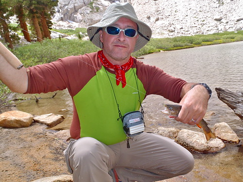 Tenkara Fishing on Mirror Lake, Mt Whitney