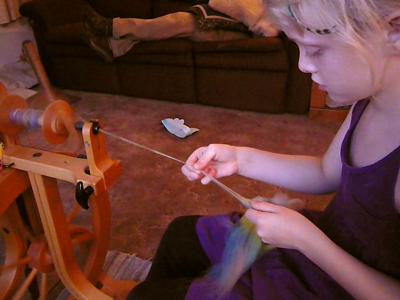 Emma spinning!