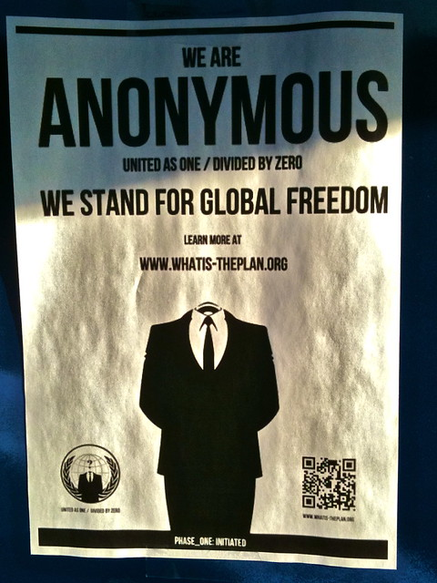 Anonymous in Oslo: We stand for global freedom