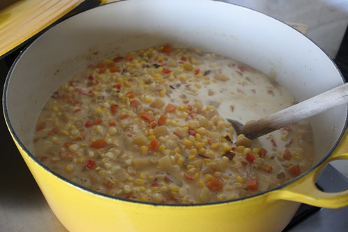 corn and clam chowder