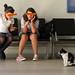 20110524_36 Girls & yawning cat in ferry waiting hall | Istanbul, Turkey