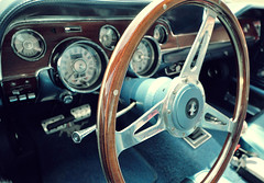 Wood Wheel (tvDAVEpgh) Tags: wood blue classic ford car wheel carpet nikon steering interior sigma american guages pedals dashboard mustang gt d5000 816mm