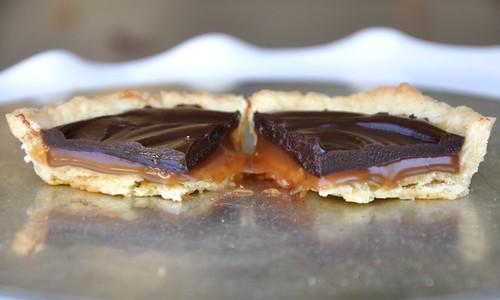 Salted Caramel Chocolate Tarts