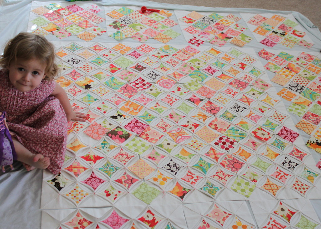 Zoe & Cathedral Window Quilt