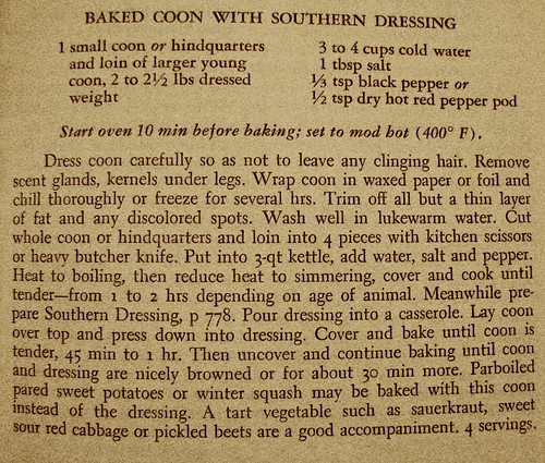 Baked Coon recipe