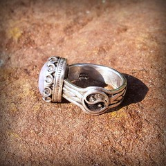 Taijitu ring of the Old Master Laozi ,star sapphire set in sterling silver (leespicedragon) Tags: art silver star ooak ring yang handcrafted sterling yin oldmaster sapphire laozi taijitu