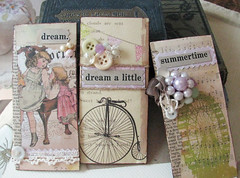 Summertime series (kristen7744) Tags: pink party summer white vintage scrapbook children aqua sweet dream harvest cream card shabby vintageinspired