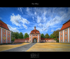 The Alley (HDR) - Source Photos Available!!! (farbspiel) Tags: history abbey clouds photoshop germany geotagged nikon cloudy wolken handheld dri deu hdr ulm kloster hdri topaz adjust superwideangle wolkig infocus 10mm postprocessing badenwrttemberg ultrawideangle photomatix wiblingen denoise d7000 geo:lat=4836117512 nikkorafsdx1024mmf3545ged picstoplaywith geo:lon=999106765