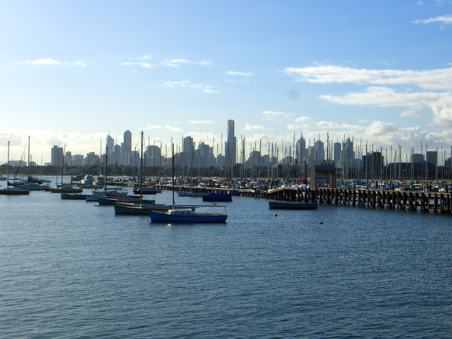 Melbourne City from St. Kilda Pier