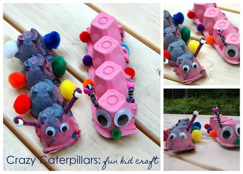 Crazy Caterpillars : Montessori Preschool Craft for summer camp