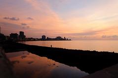 Havana Sunset (TigerPal) Tags: sunset sea seascape twilight nikon waterfront dusk havana cuba malecon cuban atlanticocean d300s