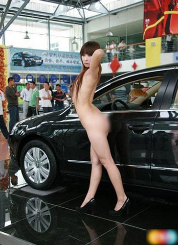 Naked Car Model in China