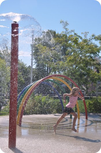 Splash pad at Plouffe park