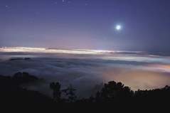 Fog Lapse (Movie) (Matt Granz Photography) Tags: california moon fog night movie stars photography lights oakland berkeley san francisco time air jets experiment craft peak grizzly lapse airliners beginner explored