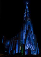 Paróquia em cores - GIF (F4C Design) Tags: luz church colors rock night canon cores lights catedral noturna igreja noite animated gif luzes rgb pedras senhora lourdes nossa coloridas paroquia iluminacao animada 550d t2i