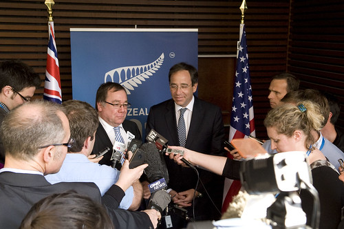 Deputy Secretary Nides and Minister of Foreign Affairs Murray McCully meet the press after a productive bilateral meeting.