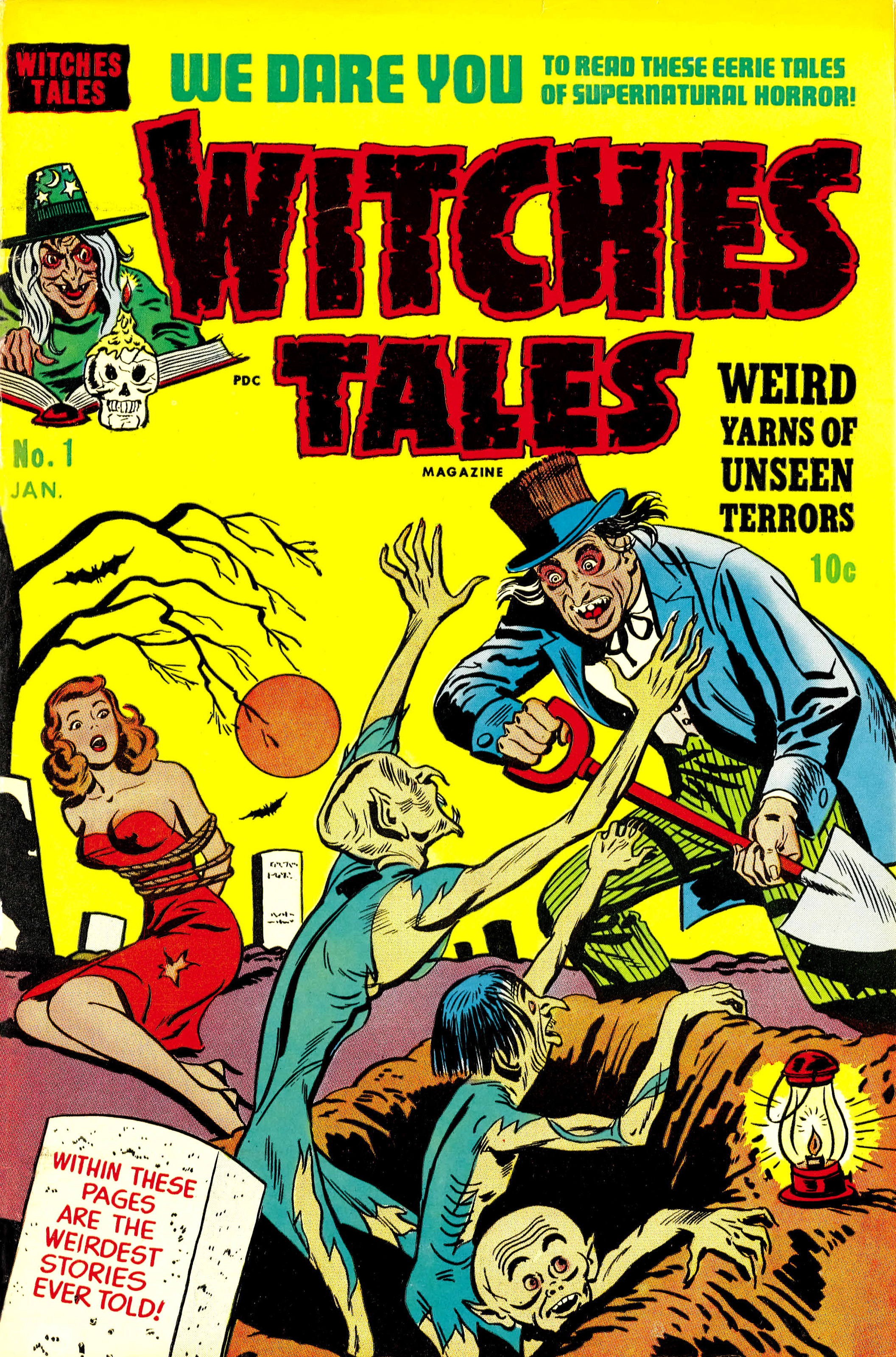 Witches Tales #1, Bob Powell Cover