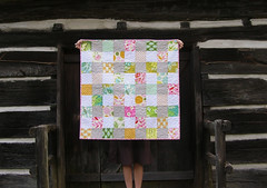 nicey jane baby quilt on the porch (greenleaf goods) Tags: baby quilt jane nicey