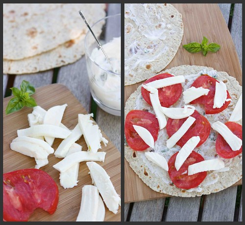 Caprese Quesadilla Collage