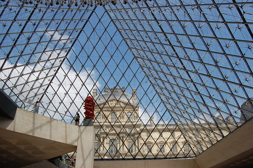 Inside the Pyramid at the Louvre