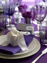 Purple Reign (www.confetti.co.uk) Tags: pink wedding decorations black bird butterfly garden table photography photo heart photos lace cage confetti sweetie buffet weddings enchanted settings favours