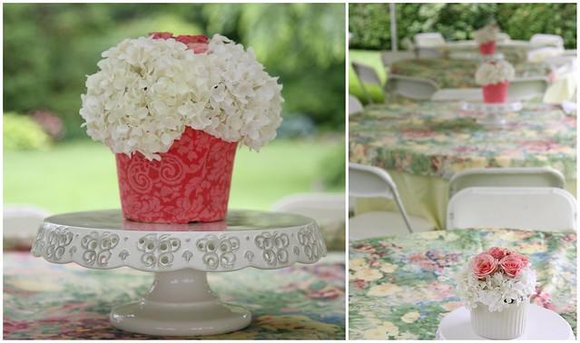cupcake flower centerpieces