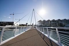 New bridge (Susana Fabian) Tags: bridge harbour viaduct auckland rwc tewero wynyardwharf