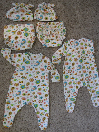 McCall 6223 - two onesies, two hats and two bloomers