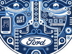Ford - SNYC (Close Up) (Jonny_Wan) Tags: blue ford face promotion illustration advertising eyes graphic american jonny wan vector gepmetric
