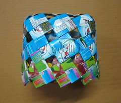 กล่องทิชชู Tissue cover box from milk carton