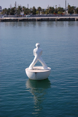 Barcelona Harbor statue