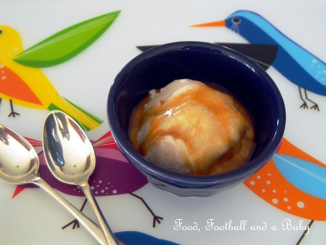 Banana Ice Cream Salted Caramel Sauce 1