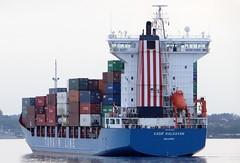 KASIF KALKAVAN (IMO 9236262) (arnekiel) Tags: feeder containership turkish funnel imo nok frde holtenau kieler kasif turkline kalkavan 9236262