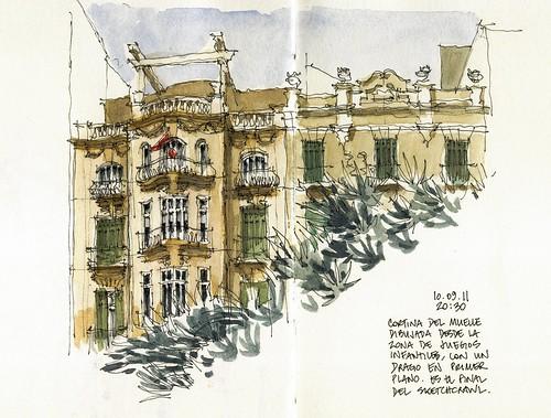 Málaga, Cortina del Muelle