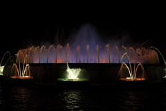 Barcellona water light dance (freemanphoto) Tags: light water night barcellona
