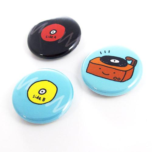 Old School Tunes Button Set 2