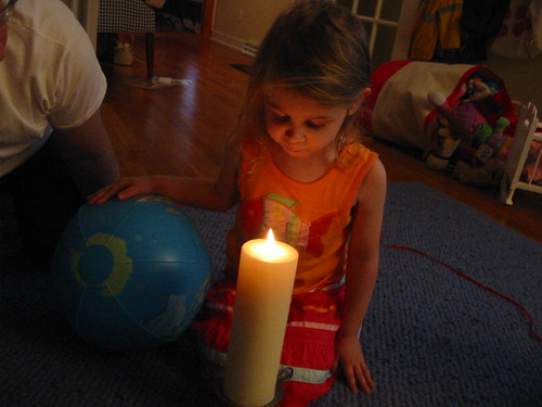 our birthday rhythm - Lena's 4th birthday - 2007