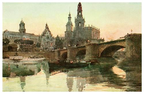 016-Dresden puente Augustus-Germany-1912- Edward y Theodore Compton ilustradores