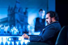 Jupiter (TGKW) Tags: portrait people man london set beard opera theatre stage scottish suit singer production jupiter underworld collins brendan pinstripe citizens orpheus 3257