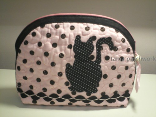 Necessaire Pink Cats ( o outro lado ) by tania patchwork