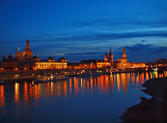 Dresden/Germany at Night (Andy von der Wurm) Tags: city travel blue sunset vacation panorama reflections river germany deutschland dresden reisen europa europe sonnenuntergang nightshot urlaub saxony illuminated hour sachsen stadt fluss altstadt soe elbe nachtaufnahme blaue reflektionen beleuchtet iluminated stunde bej hobbyphotograph illuminiert mywinners abigfave anawesomeshot platinumfoto natureselegantshots damniwishidtakenthat iluminiert ringexcellence andreasfucke