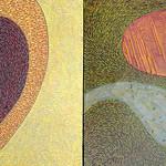 "<b>Stitched Inlet</b><br/> Paula Berg Owen (1948-) Stitched Inlet Acrylic, 2005 LFAC #2008:01:06<a href=""http://farm7.static.flickr.com/6207/6147188189_6122eb8221_o.jpg"" title=""High res"">∝</a>"