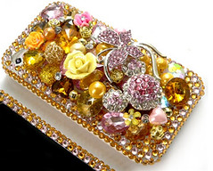 orange & purple (.,. Fashion my phone .,. Qatar) Tags: flowers roses black flower fashion rose hearts gold design berry crystals hand phone blackberry purple heart handmade cell style made swarovski custom qr doha qatar iphone  saler    qatari