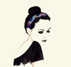 * (Daniela Dahf Henrquez) Tags: chile illustration watercolor mujer ilustracin elegante acuarelas danielahenrquez dahf