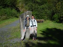 Zwei Westerwald-Steig Wanderer