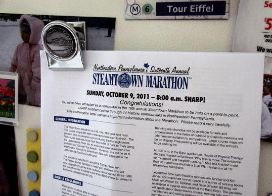 Steamtown Marathon Letter
